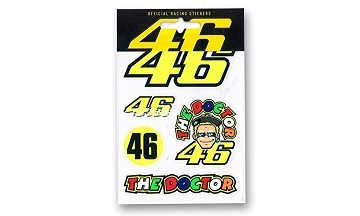 VR46 Official Merchandise Stickers VR46