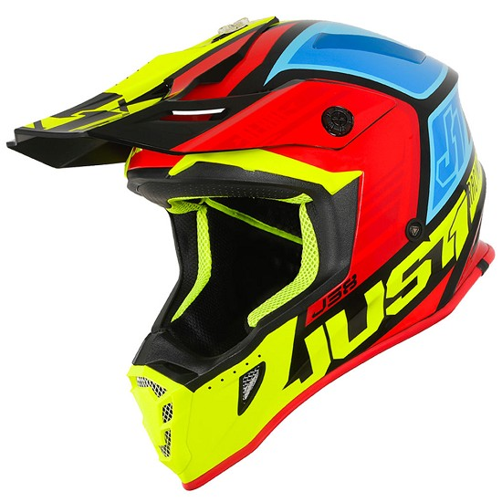 Caschi Caschi off-road Just 1 J38 Blade BlackYellowRedBlue